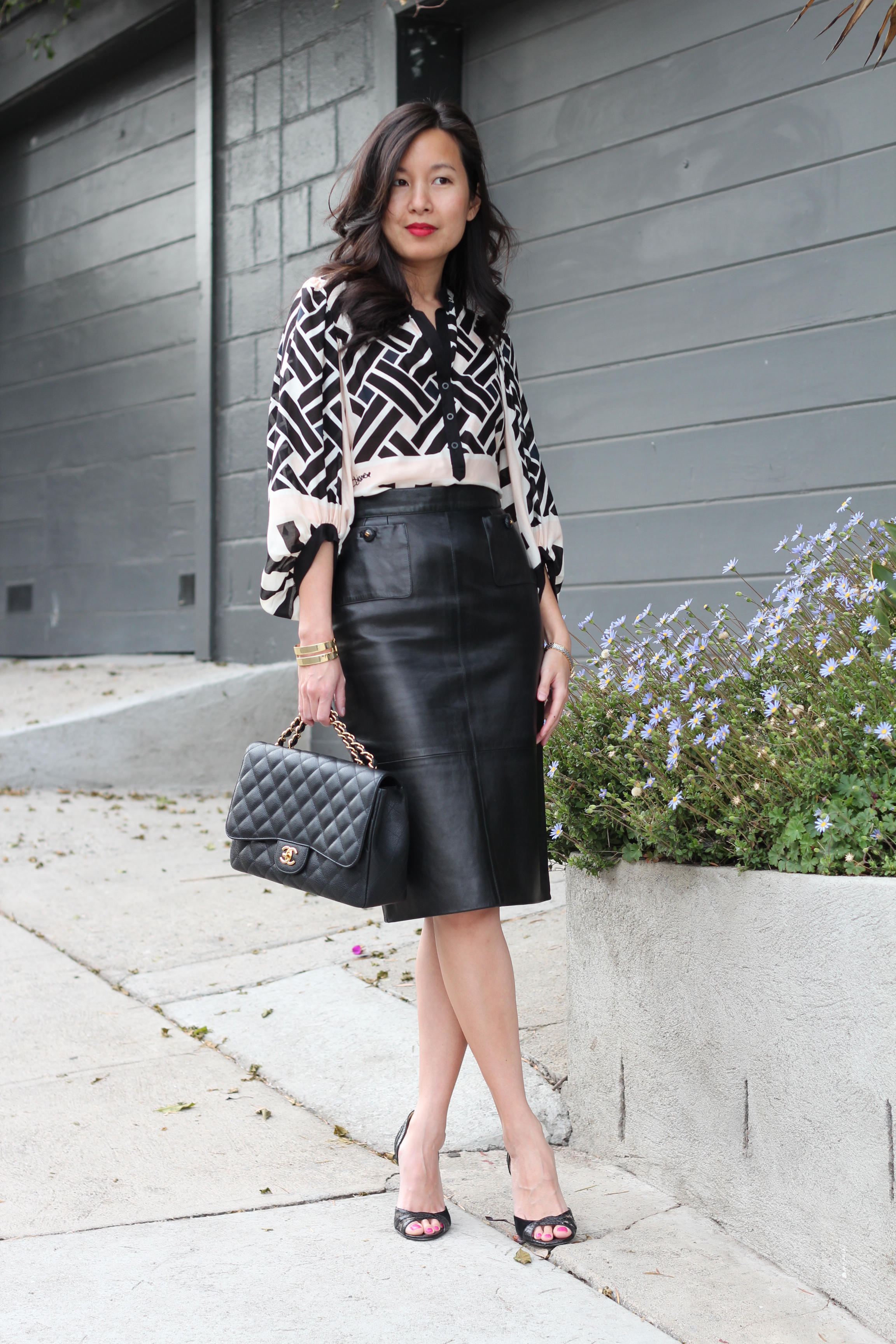 leather skirt | CO COUTURE